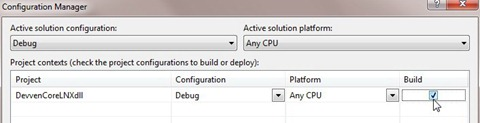 Visual Studio Configuration Manager