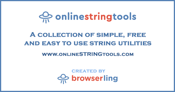 Online String Tools for Developers