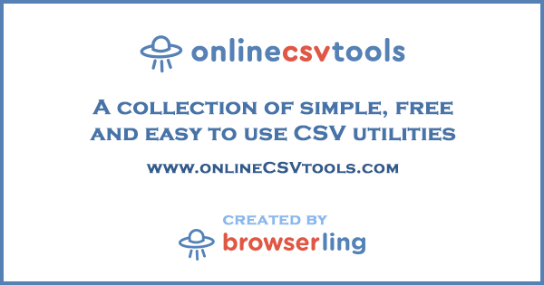Online CSV Tools for Developers